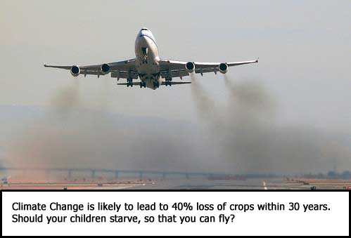 Should your children starve, so that you can fly?