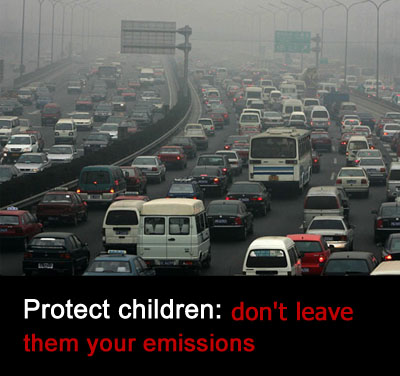 Protect Children: Don't leave them your emissions